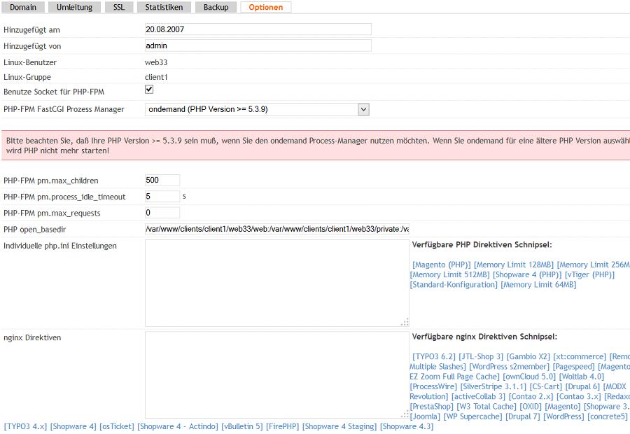Installation von Shopware mit ISPConfig unter nginx // Timme Hosting ...