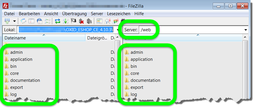 FTP-CLient FileZilla