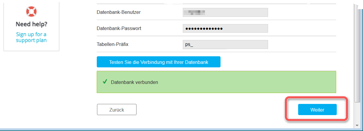 Prestashop Installationsassistent