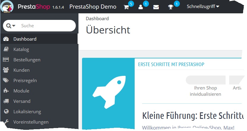PrestaShop Backend