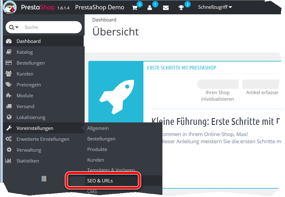 PrestaShop SEO URLs