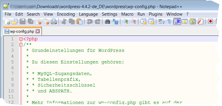 Wordpress wp-config.php